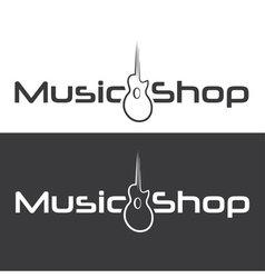 music shop design template vector image vector image