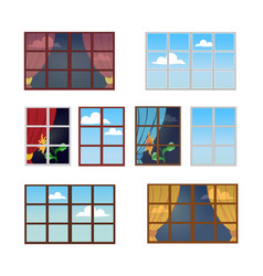 Reflection of a sunny day in the window vector
