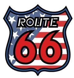 Route 66 emblem vector