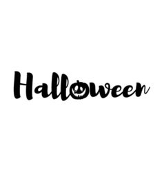 Silhouette smile pumpkin sign halloween badge vector