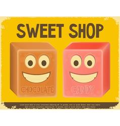 sweet shop vector image vector image
