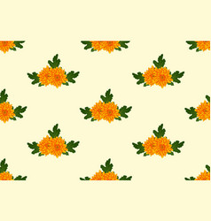 Yellow chrysanthemum on ivory beige background vector