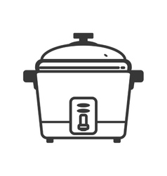 Rice cooker supply house electric appliance icon vector