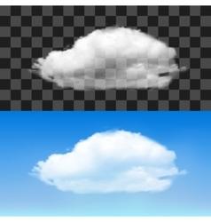 Realistic cloud vector