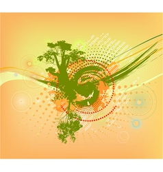 abstract colorful background with tree vector image