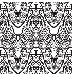 vintage lace ornament pattern vector image