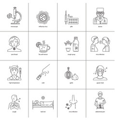 Icons prevention of diseases vector