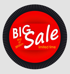 Sale banner template design red round advertising vector