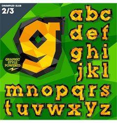 Crumpled paper alphabet vector
