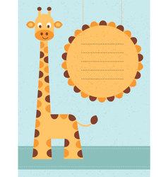 Giraffe card vector