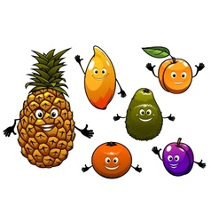Cartoon fresh fruits set vector