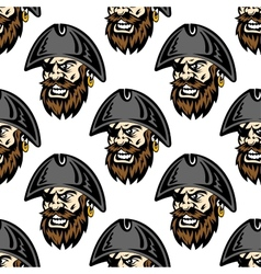 Cartoon pirate seamless pattern background vector