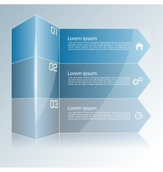 Modern colorful template in the form of a box and vector