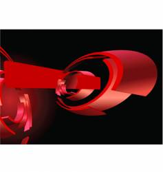 Abstract red 3d rings banner vector