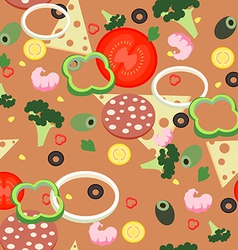Seamless pattern pizza vector