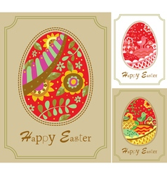 Three easter card vector