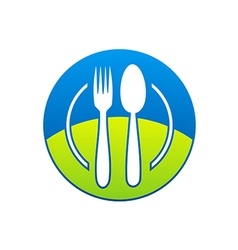 Food restaurant icon logo vector