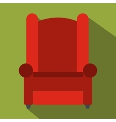Armchair flat icon vector