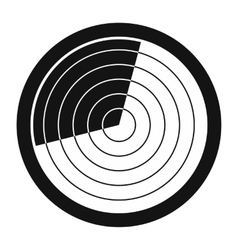 Radar black simple icon vector