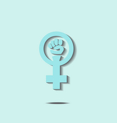 Blue feminism sign vector image