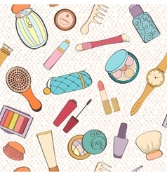 Fashion cosmetic pattern vector