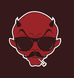 Hipster demon vector