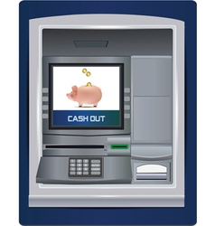 atm bank vector image vector image