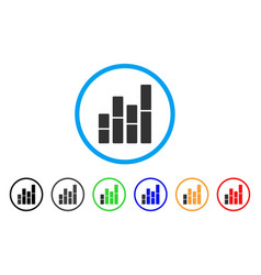 bar charts rounded icon vector image vector image