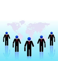 Business people world black vector image vector image