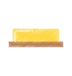 Butter fresh isolated icon vector