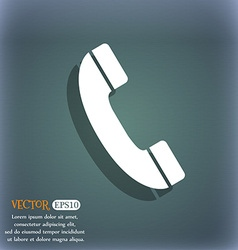 Call icon on the blue-green abstract background vector