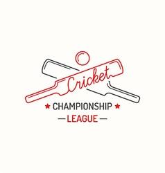 Concept logo cricket vector image vector image