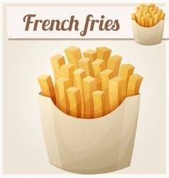 French fries Detailed icon vector image vector image