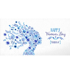 Happy Women day vintage flower vector image vector image