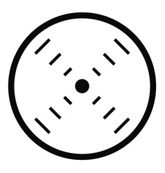 interface radar icon simple style vector image