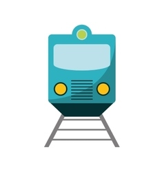 Isolated train vehicle design vector