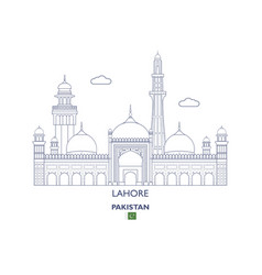 lahore city skyline vector image