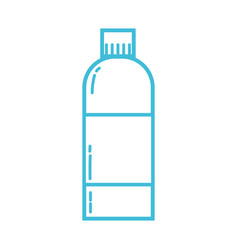 Line liquit bleach in bottle design to clean vector
