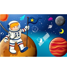 Man and space vector image