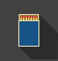 match box and matches icon vector image vector image