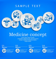 medical concept vector image vector image