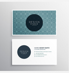 Modern business card template with pattern vector
