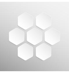 Paper banner design mockup hexagon vector