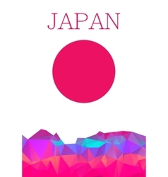 Polygon design background abstract japan element vector