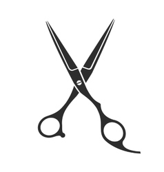 Vintage barber shop scissors vector
