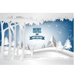 winter season with snowflake of vector image