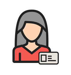 Woman id card vector