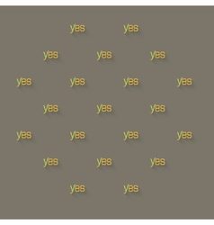 Yes word background with checkmark positive vector
