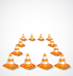Square from traffic cones vector