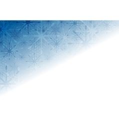 Shiny blue christmas holiday background vector